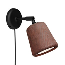 NEW WORKS MATEIAL WALL LAMP  - SMOKED OAK
