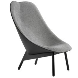 HAY Uchiwa lounge stoel Hallingdal - zwart leer