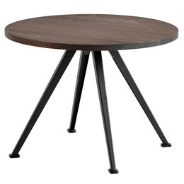 HAY Pyramid 51 Coffee Table Smoked Oak Ø60 - Black