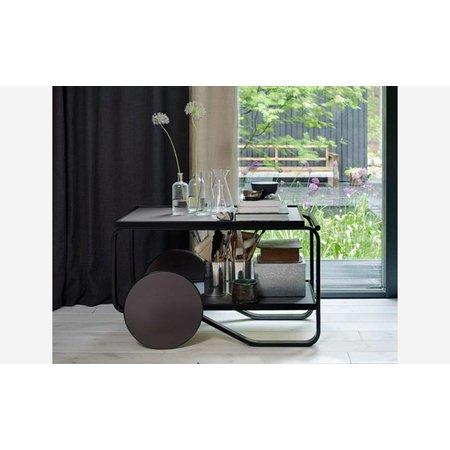 ARTEK Tea Trolley 901 Zwart Berken - Charcoal
