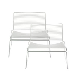 HAY HEE LOUNGE CHAIR  - SET OF 2 WHITE