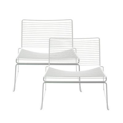 HAY Hee Lounge Chair 2 Pc White