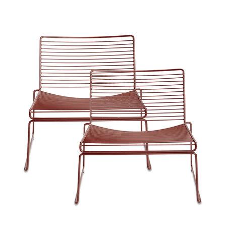 HAY Hee Lounge Chair 2 Pc Rust