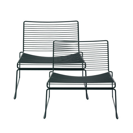 HAY Hee Lounge Chair Set of 2 Black