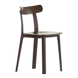 VITRA ALL PLASTIC CHAIR - BROWN