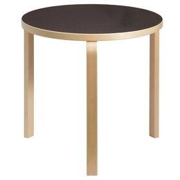 ARTEK Aalto Table 90B Birch / Black Linoleum