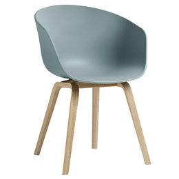 HAY Aac 22 Eco Chair Dusty Blue - Oak Bas