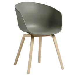 HAY Aac 22 Eco Chair Dusty Green - Oak Bas