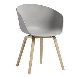 HAY Aac 22 Eco Chair Grey - Oak Bas