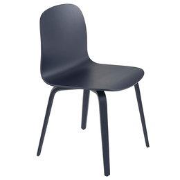 MUUTO VISU STOEL MIDNIGHT BLUE - VOET HOUT