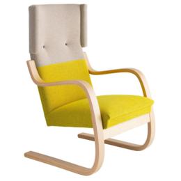 ARTEK Lounge Chair 401 Grijs + Geel