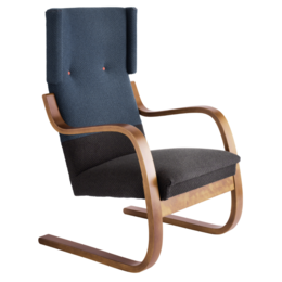 ARTEK Lounge Chair 401 Turquoise/Bruin
