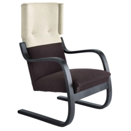 ARTEK Lounge Chair 401 Wit/Bruin