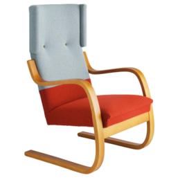 ARTEK Lounge Chair 401 Blauw/Rood