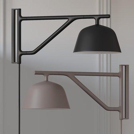 MUUTO Ambit wandlamp zwart