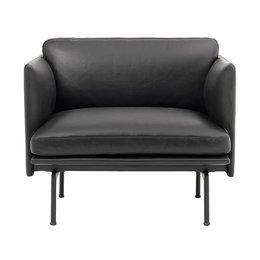 MUUTO Outline Chair Refine black leather