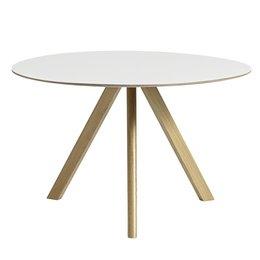 HAY Cph 20 Table  Ø120 - White Laminate - oak base