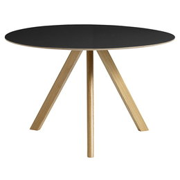 HAY CPH20 TABLE ROUND BLACK LINO