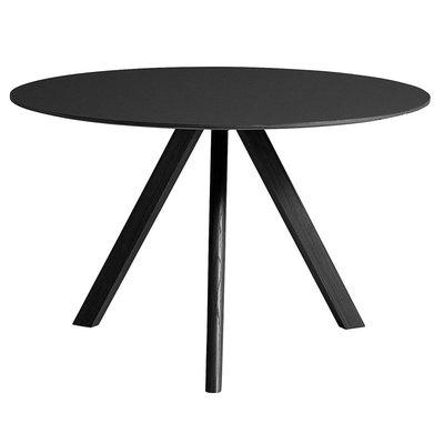 HAY Cph 20 Table Round Ø120 - Black Lino / Black