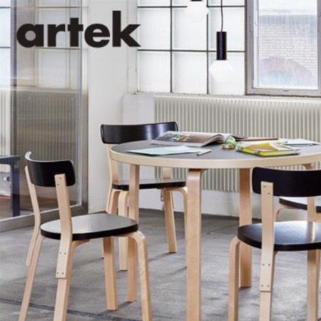 ARTEK Aalto Stoel 69 Oranje - Berken