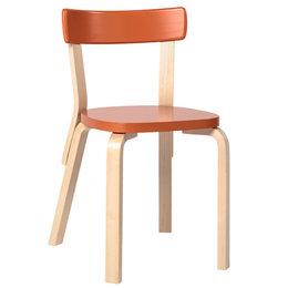 ARTEK Aalto Chair 69 Orange - Birch