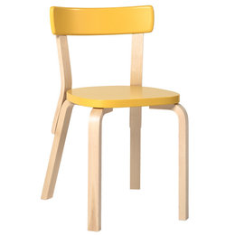 ARTEK Aalto Chair 69 Yellow - Birch