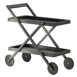 DESIGN HOUSE STOCKHOLM EXIT TROLLEY  STAINED BLACK