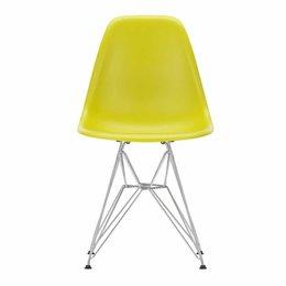 VITRA Plastic Side Chair DSR Mosterd - Voet Chroom