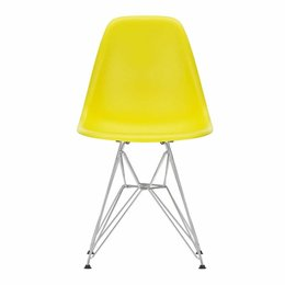 VITRA Plastic Side Chair DSR Sunlight  - Base Chrome