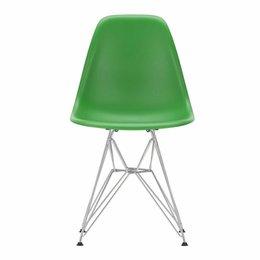 VITRA Plastic Side Chair DSR Green - Base Chrome