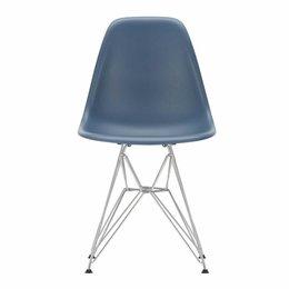 VITRA Plastic Side Chair DSR Zee Blauw - Voet Chroom