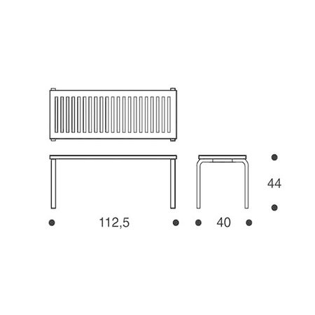 ARTEK Bench 153A Black