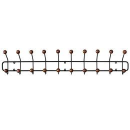 MAZE INTERIOR INT Bill Coat Rack Horizontal - Black/Walnut