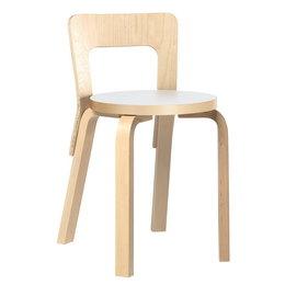 ARTEK Chair 65 Berken Stoel - Wit Laminaat