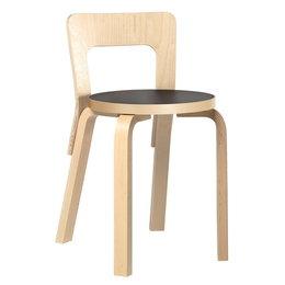 ARTEK Chair 65 Berken Stoel - Zwart Linoleum