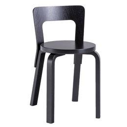 ARTEK Chair 65 Berken Zwart Gelakt