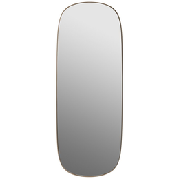 MUUTO FRAMED MIRROR  LARGE TAUPE / CLEAR