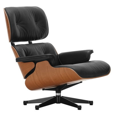 VITRA Lounge Chair New Size - Cherry - Leather L40