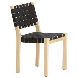 ARTEK Chair 611 Berken - Zwart/ Webbing