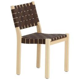 ARTEK Chair 611 Berken - Zwart-Bruin/ Webbing