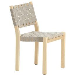ARTEK Chair 611 Berken - Zwart Webbing