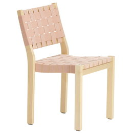 ARTEK Chair 611 Berken Rood/ Webbing