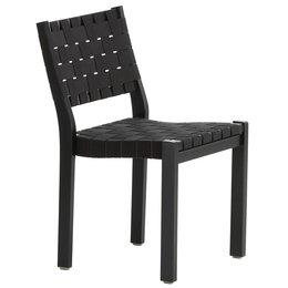 ARTEK Chair 611 Berken Zwart  - Zwart-Zwart/ Webbing