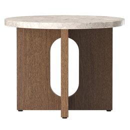 MENU ANDROGYNE  SIDE TABLE DARK OAK - TOP KUNIS BRECCIA