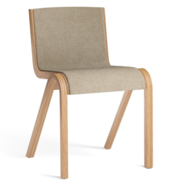 MENU Ready Dining Chair Front uph boucle