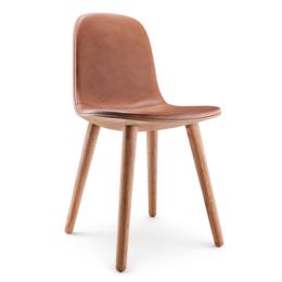 EVA  SOLO Abalone Chair Oak natural - Leather Cognac