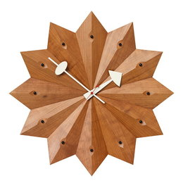 VITRA Fan Clock kersenhout