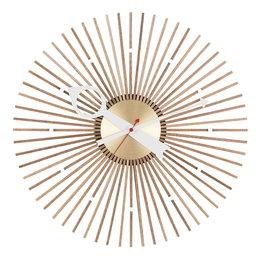 VITRA Popsicle Clock notenhout