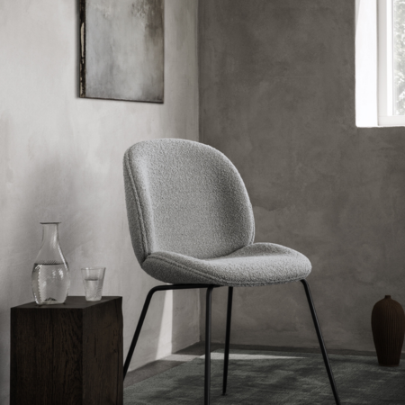 GUBI Beetle chair upholstered Dedar Karakorum  - base black