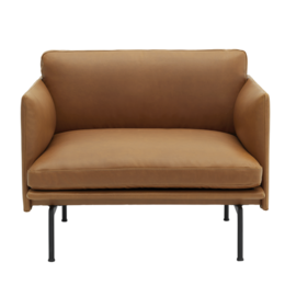 MUUTO Outline chair Refine cognac leather
